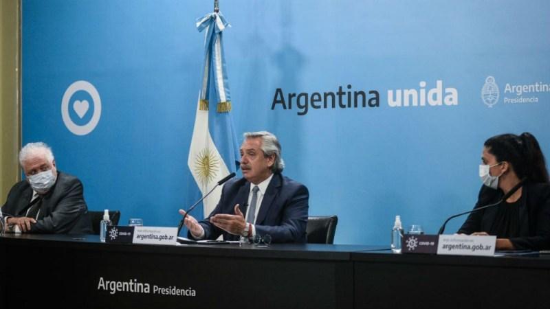 De la conferencia participaron el presidente Alberto Fernández; el ministro de Salud ,Ginés González García, y la directora Ejecutiva de PAMI, Luana Volnovich