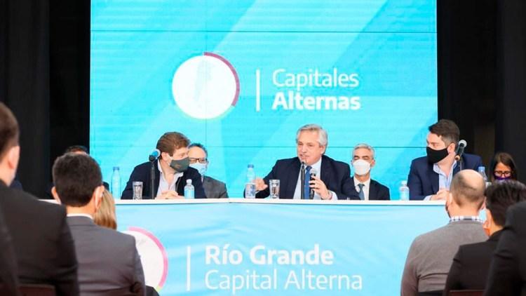 Fernández puso en marcha el proyecto de Capitales Alternas desde Tierra del Fuego.
