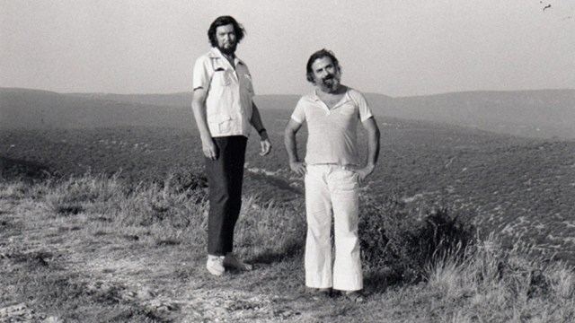El autor de Rayuela junto a su amigo Julio Silva.