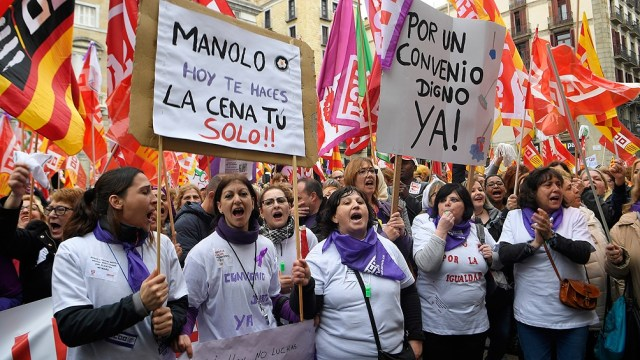 Las manifestaciones del 8M del año pasado fueron durante meses objeto de polémica en España