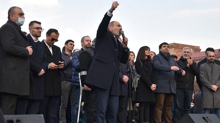 El primer ministro Nikol Pashinian.
