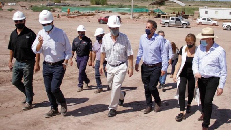 Katopodis visitó la obra de la Planta Depuradora de El Paramillo que beneficiará a 350.000 habitantes del Gran Mendoza..