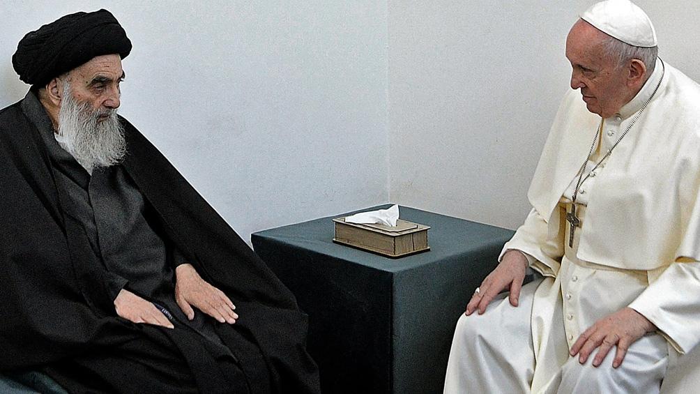 En su viaje, Francisco se reunió con el gran ayatollah Ali al-Sistani.