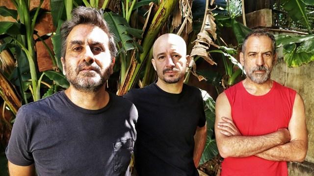 El terceto rockero Acorazado Potemkin es integrado por Juan Pablo Fernández, Luciano Esain y Federico Ghazarossian.