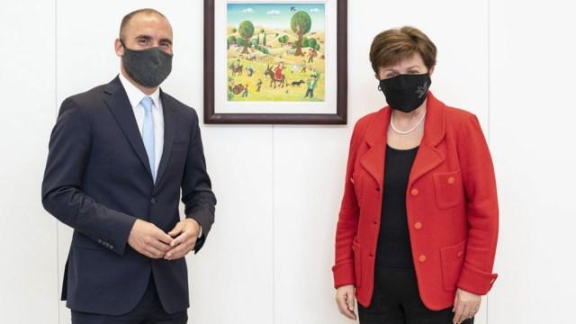 La titular del organismo, Kristalina Georgieva, mantuvo una reunión con el ministro de Economía, Martín Guzmán, para negociar un nuevo acuerdo con la Argentina.