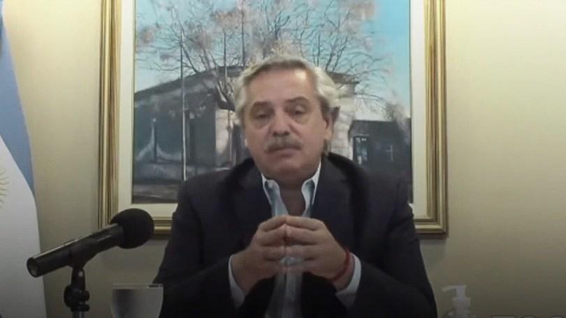 """Alberto Fernández resumió la semana pasada el pedido argentino al Fondo Monetario de """"revisar"""" las tasas y los """"tiempos"""" de los créditos."""