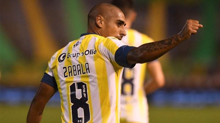 Diego Zabala, autor del gol de Rosario Central frente a Aldosivi (Foto: @CARCoficial)