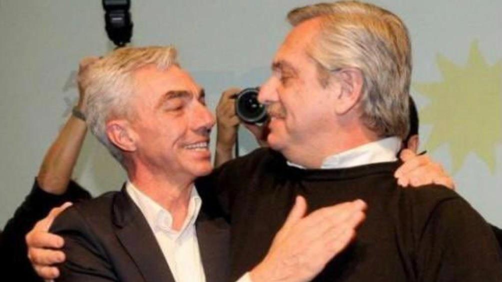 Mario Meoni y Alberto Fernández.