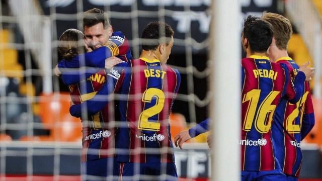 Messi otra vez determinante en Barcelona.