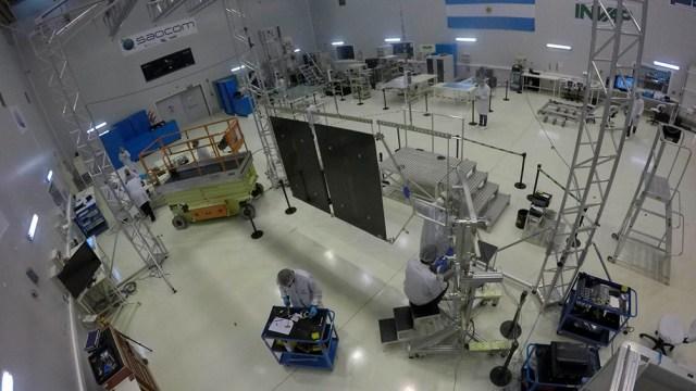 La prueba fue realizada en la sede de Invap de Bariloche, Río Negro.