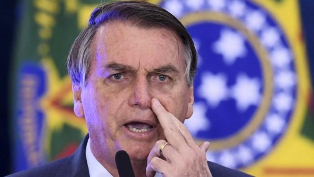 El presidente Jair Bolsonaro encabezó una multitudinaria caravana de motociclistas en Brasilia