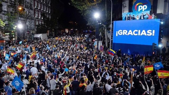 El Partido Popular volvió al ruedo como principal representación de la derecha española.