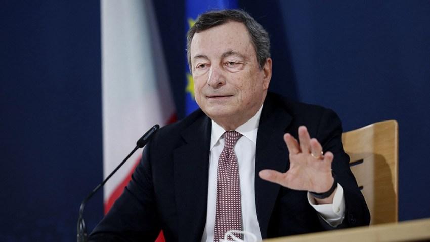 Las fuerzas de centroizquierda que sostienen al premier Mario Draghi aparecen divididas.