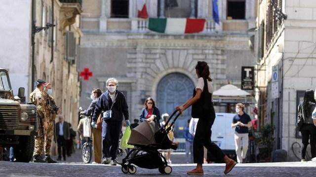 Italia inició a fines de marzo una flexibilización gradual de las restricciones a la movilidad y a las actividades comerciales