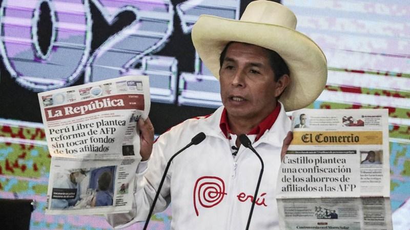 Pedro Castillo, candidato presidencial por Izquierda Libre
