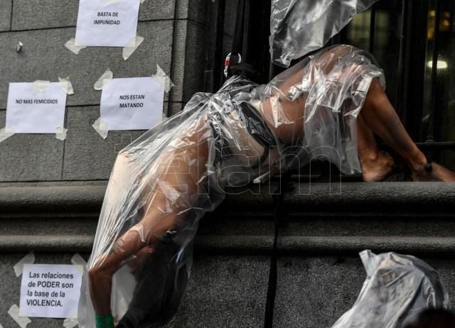 """Ana Correa: """"A las mujeres nos siguen matando solo por el hecho de ser mujeres"""". Foto: Alejandro Santa Cruz."""