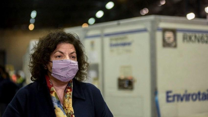 """La ministra Carla Vizzotti aseguró que """"antes de fin de año vamos a tener a todos los mayores de tres años protegidos""""."""