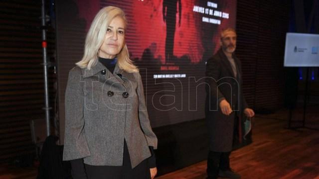 Bauer encabezó la presentación de una película sobre Güemes junto a Sbaraglia y Morán.