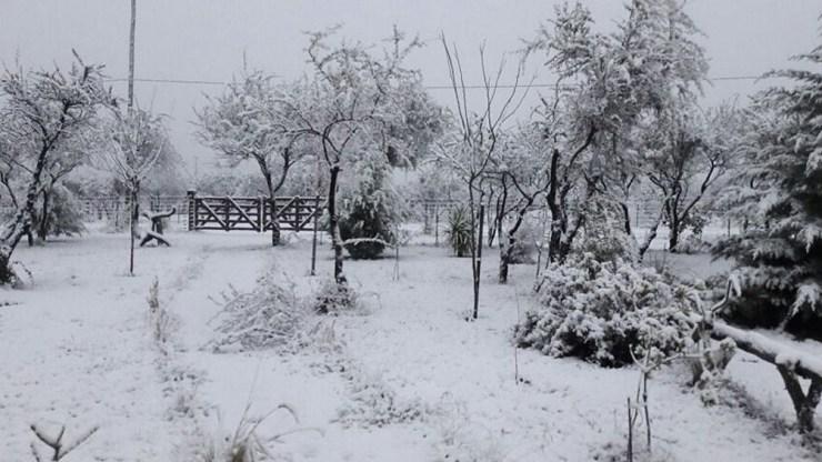 También nevó en San Luis.