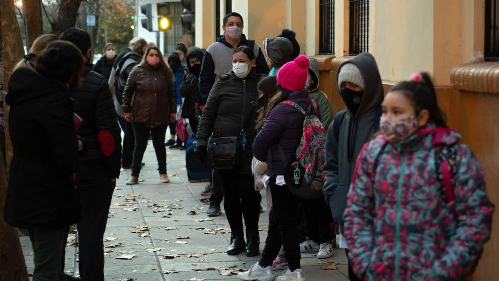 En Buenos Aires también se hizo sentir el frío.