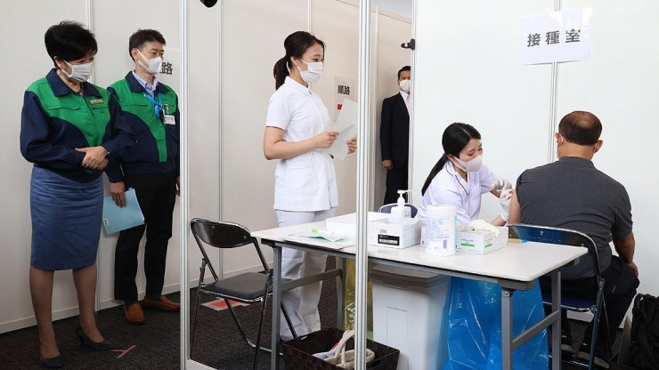 Hasta el momento, el 26,3% de la población japonesa fue completamente vacunada.