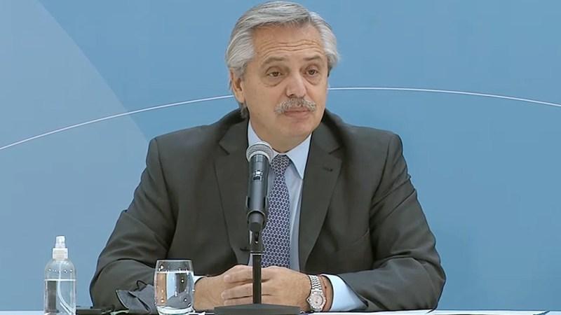 Alberto Fernández presentó el proyecto de ley en el Museo del Bicentenario de Casa Rosada.