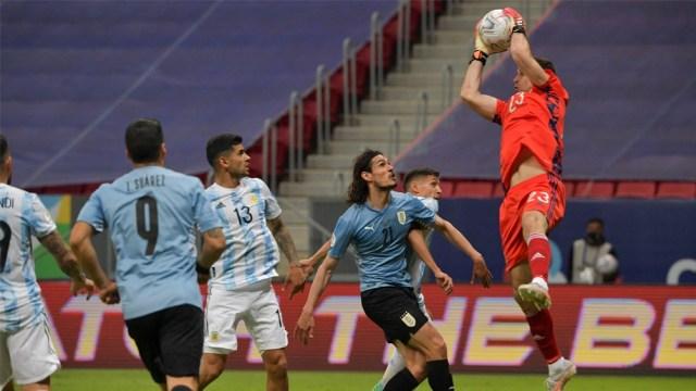 Emiliano Martínez tuvo un trabajo seguro en el arco de Argentina (Foto: @CopaAmerica)