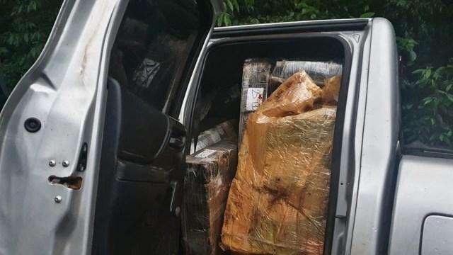 Más de una tonelada de marihuana fue secuestrada cuando era transportada escondida dentro de una camioneta