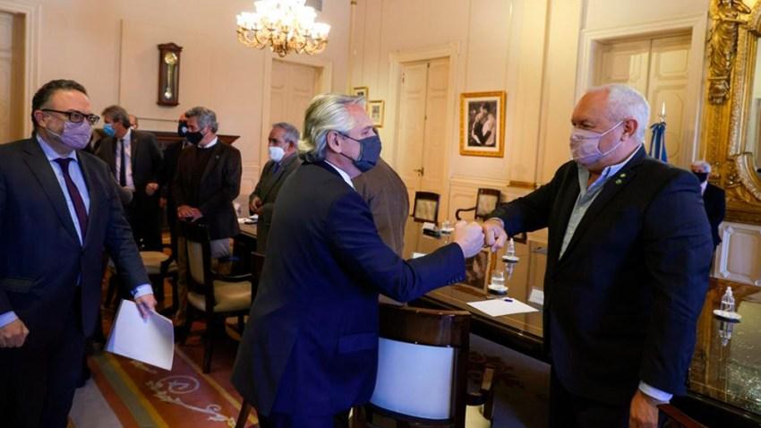 Alberto Fernández se reunió en la Casa Rosada con representantes de las entidades rurales y cámaras que nuclean a industriales y exportadores de la carne.