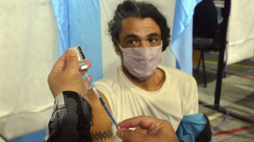 La vacunación es pareja en todo el territorio argentino.