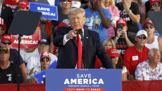 La presencia de Trump en Ohio tubo como objetivo respaldar al candidato conservador Max Miller.