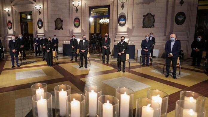 El homenaje contó con la participación de varios gobernadores.