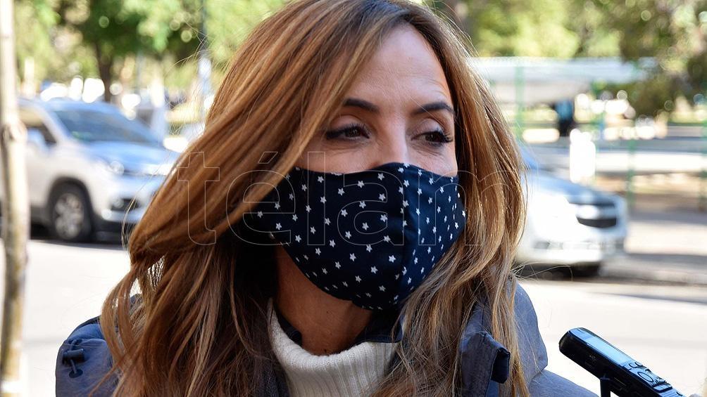"""Teresa García consideró que Victoria Tolosa Paz """"es una voz fuerte"""" en la defensa de la gestión."""