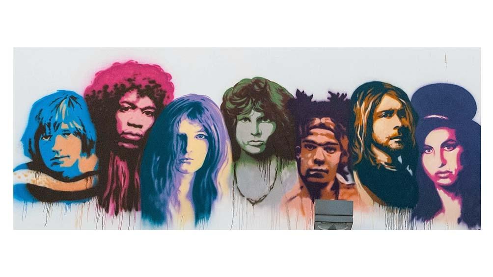 Las leyendas impresas parra siempre en la mitología del rock y, en este caso, en un mural en Tel Aviv, Israel. Foto gentileza:De Psychology Forever - Trabajo propio, CC BY-SA 4.0