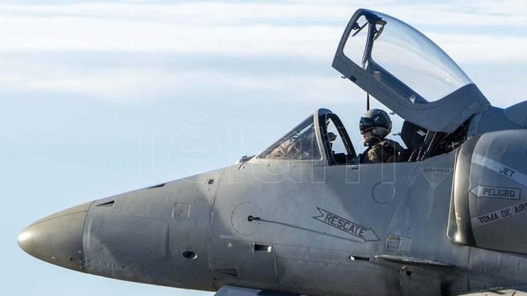 Avión A4 AR de la Fuerza Aérea Argentina.