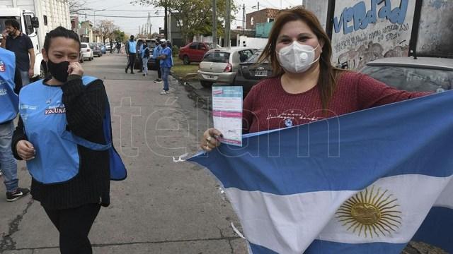 """""""Nosotros estamos preocupados por la campaña de vacunación y la oposición está preocupada por la campaña electoral"""" dijo Cafiero (Foto: Amarelle)"""