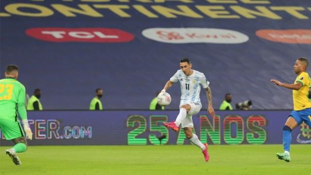 El hermoso gol de Di María ante Brasil, que le dio el título al seleccionado argentino después de 28 años.