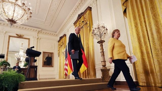 Merkel se reunió con el presidente estadounidense, Joe Biden