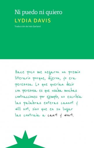 """""""Ni puedo ni quiero"""", editado por Eterna Cadencia."""