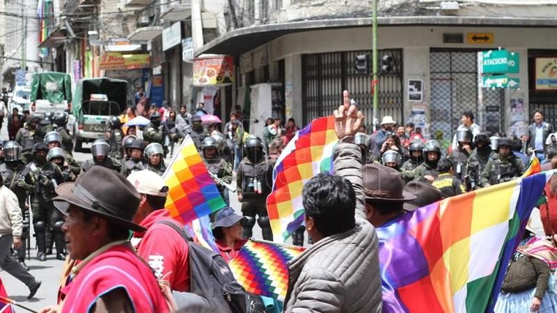 """Habrían ido 40.000 a las fuerzas armadas de Bolivia y 30.000 a la policía, eso parece ser el acuerdo que existió"""", explicó la ministra. Foto: Pablo Añeli"""