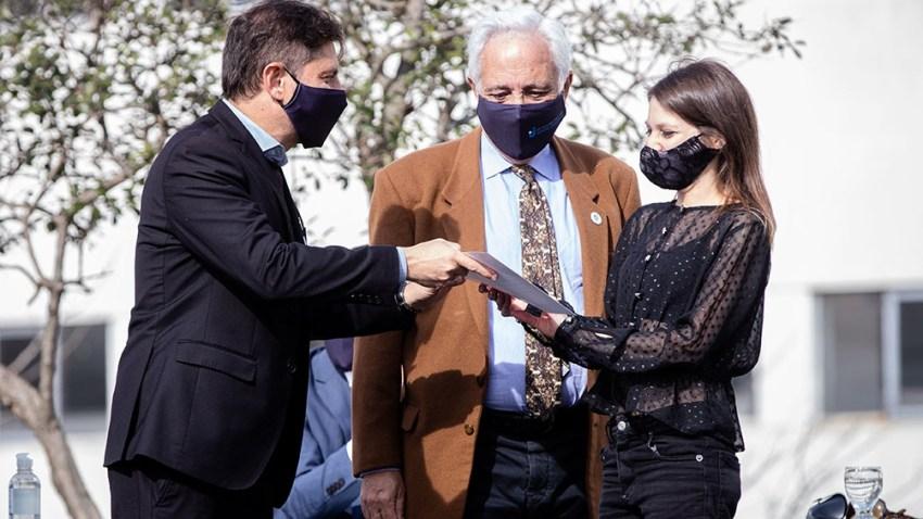 Kicillof participó de un acto junto al presidente, Alberto Fernández, en la Universidad Arturo Jauretche, de Florencio Varela,
