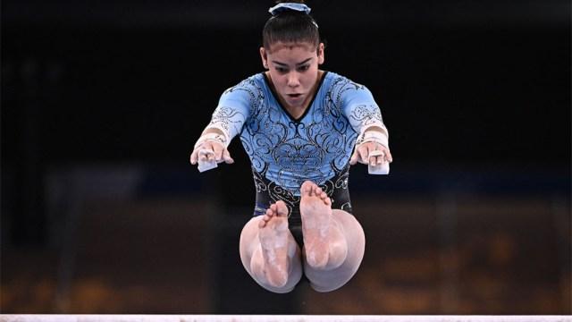 Abigail Magistrati, gran debut olímpico para la más joven de la delegación argentina en Japón (Foto: AFP)
