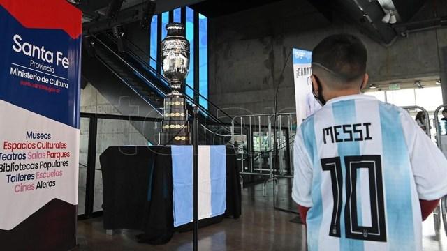 El Museo del Deporte está situado en el barrio rosarino La Bajada, donde nació el capitán del equipo, Lionel Messi. (Foto Sebastián Granata)