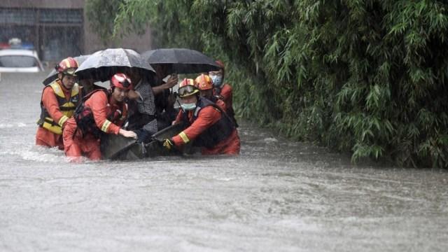 En el este de China más de 100.000 personas permanecen evacuadas