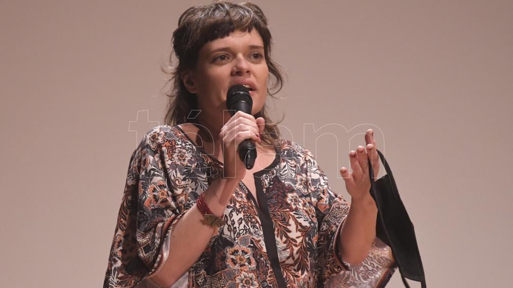 Mercedes Córdova, directora, en la presentación del documental (foto: Julián Alvarez)