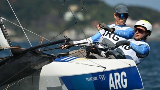Lange y Carranza, con un auspiciososeundo día de competencia, se ubican cuartos (Foto: AFP)