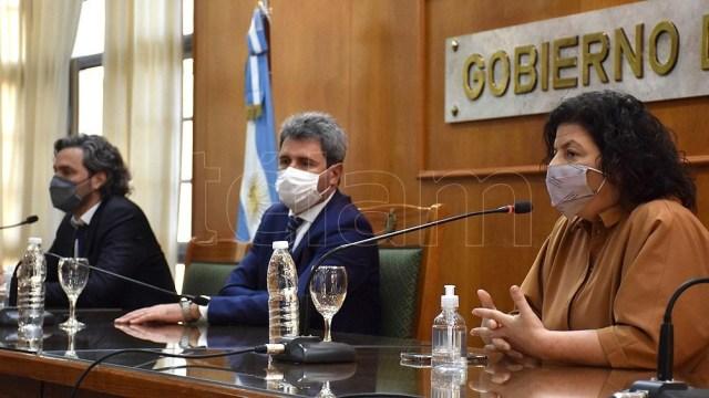 La ministra de Salud, Carla Vizzotti visitó la provincia de San Juan para inaugurar un hospital. Foto: Paratore.