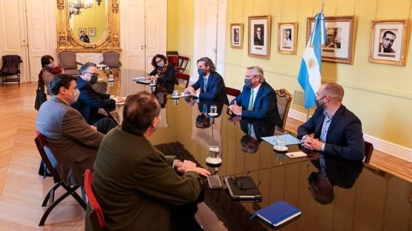 Reunión del Gabinete Económico. Foto: Presidencia.