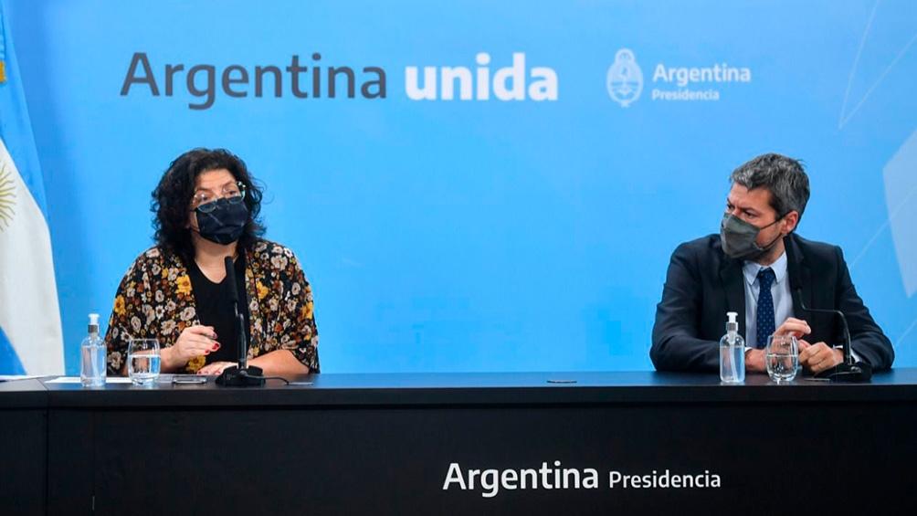 Lammens fue parte de la conferencia de prensa que encabezó la ministra de Salud, Carla Vizzotti. Foto: Presidencia