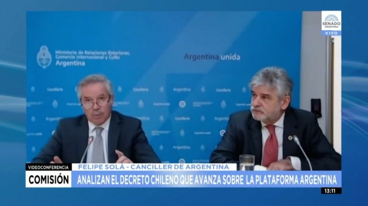"""Solá reprochó el reciente comunicado del PRO el que se instaba a ambas naciones """"a mantener conversaciones para superar la situación"""","""